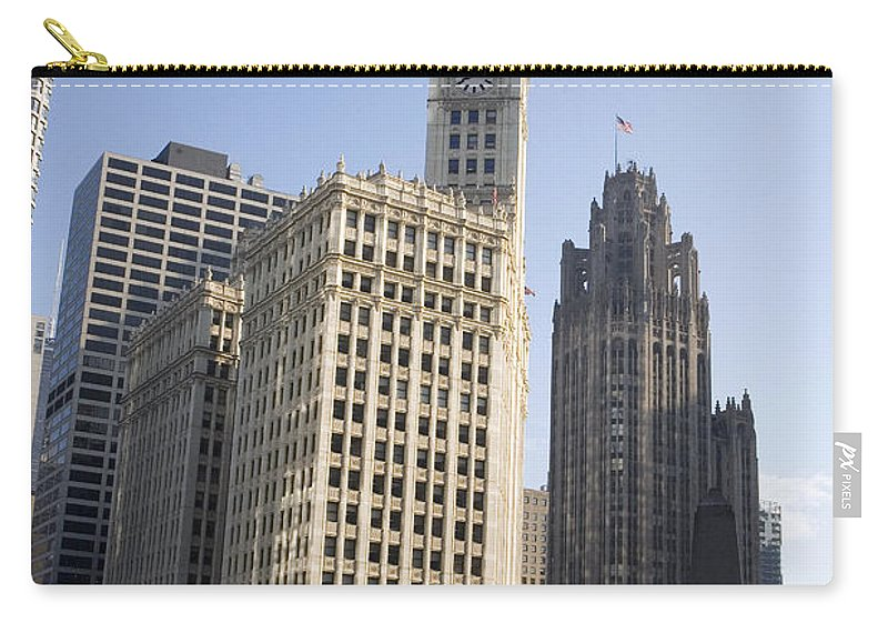 Chicago Riverwalk Carry-all Pouch featuring the photograph Tribune Tower Chicago by Jason O Watson