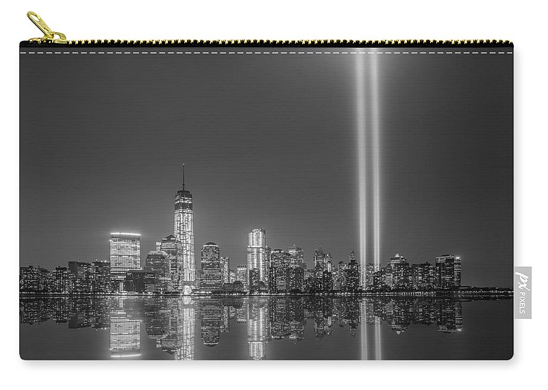 Nyc Carry-all Pouch featuring the photograph Tribute In Light Reflection by Michael Ver Sprill