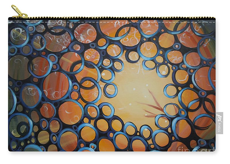Circles Carry-all Pouch featuring the painting Tribute To Cookie by Tonya Henderson