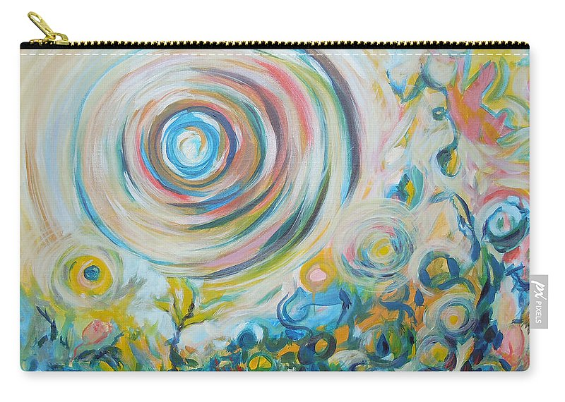 Abstract Carry-all Pouch featuring the painting Tribute To Gary by Tonya Henderson