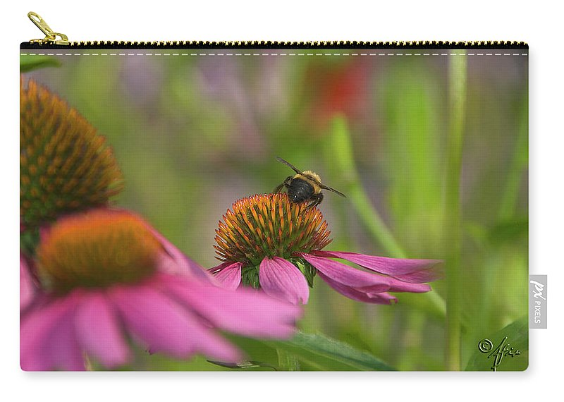 Flowers Carry-all Pouch featuring the photograph Tricky Terrain by Arthur Fix