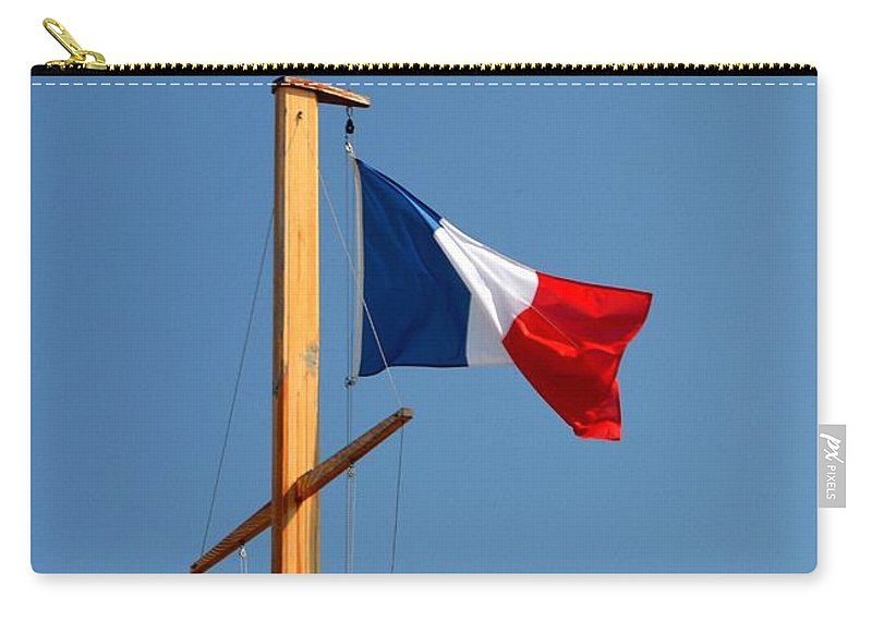 Tricolore Carry-all Pouch featuring the photograph Tricolore Flag by Bishopston Fine Art