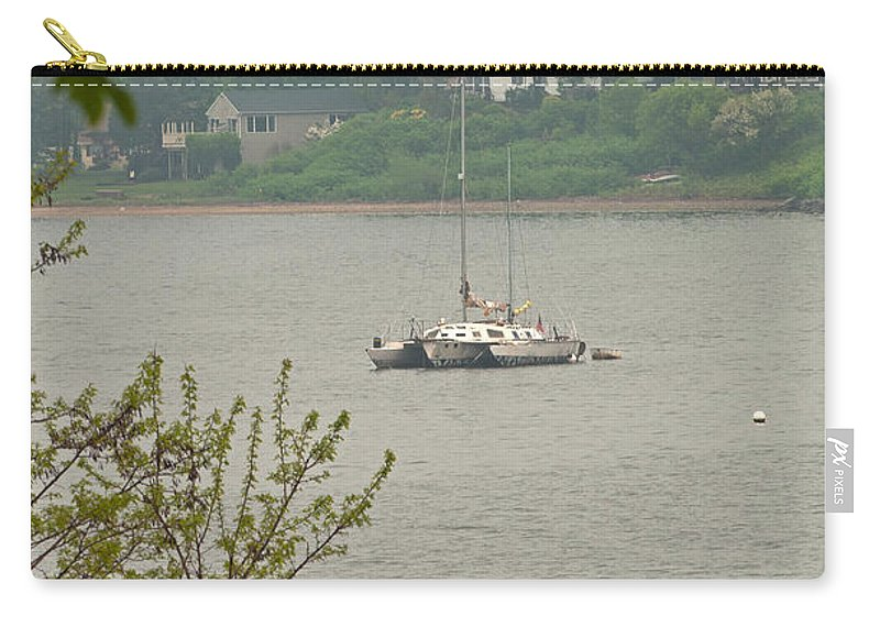 Trimaran Carry-all Pouch featuring the photograph Trimaran by Paul Mangold