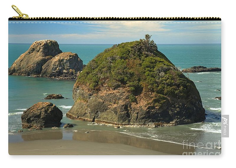 Trinidad California Carry-all Pouch featuring the photograph Trinidad Islands by Adam Jewell