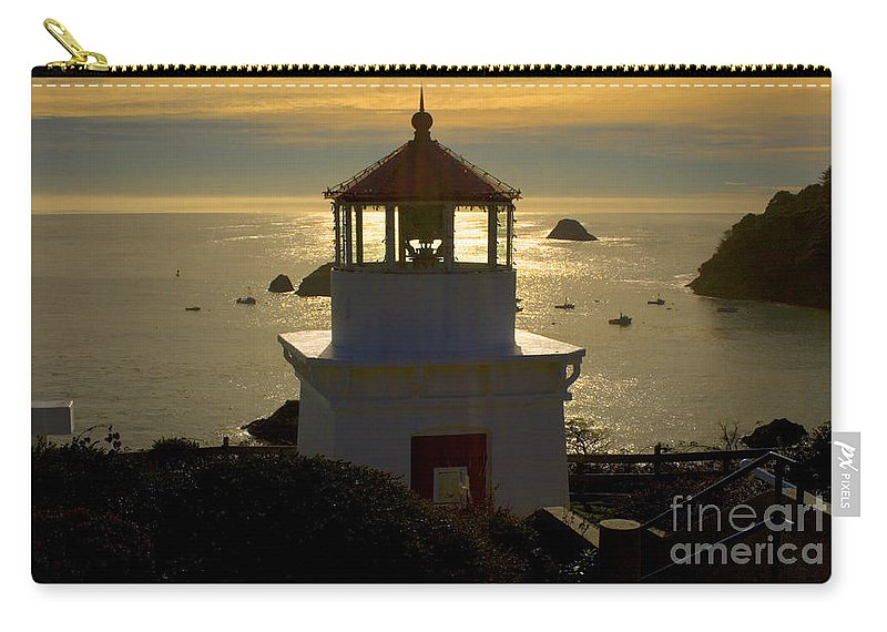 Trinidad Memorial Lighthouse Carry-all Pouch featuring the photograph Trinidad Memorial Lighthouse by Wernher Krutein