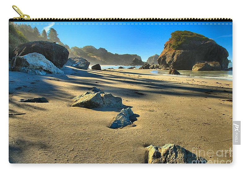 Trinidad California Carry-all Pouch featuring the photograph Trinidad Morning Blue by Adam Jewell