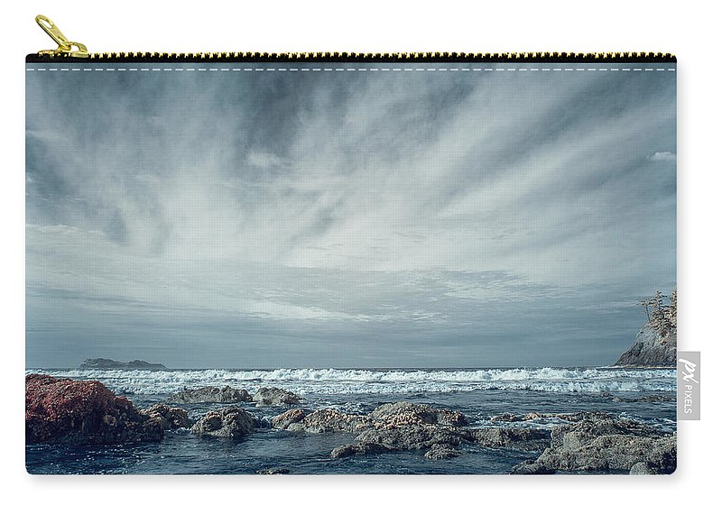 Infrared Carry-all Pouch featuring the photograph Trinidad State Beach In Infrared by Greg Nyquist