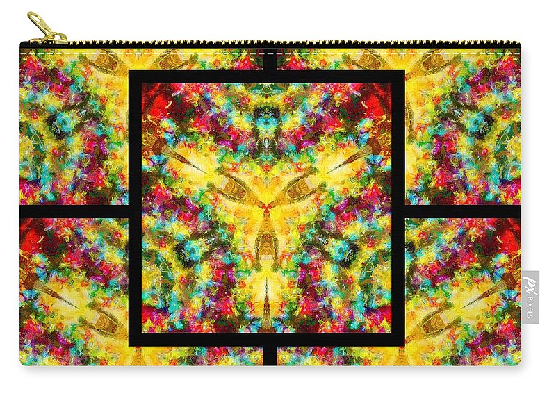 Sacredlife Mandalas Carry-all Pouch featuring the digital art Trinity Crossroads Page by Derek Gedney