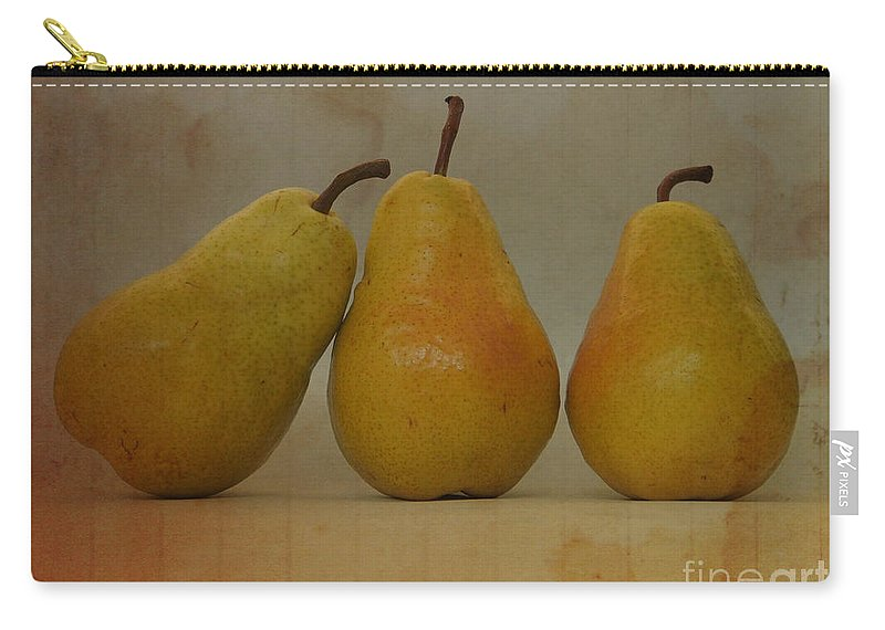 Pears Carry-all Pouch featuring the photograph Trio Of Pears by Jacklyn Duryea Fraizer