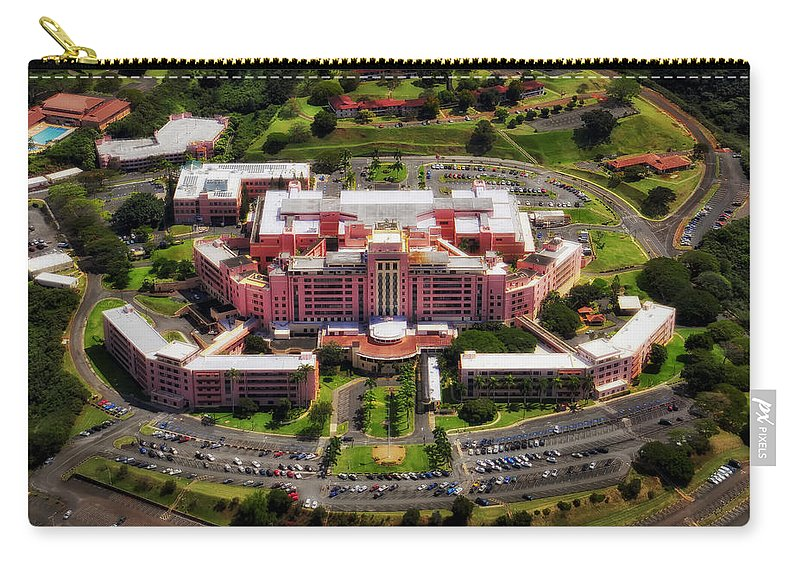 Tripler Army Medical Center Carry-all Pouch featuring the photograph Tripler Army Medical Center - Honolulu by Mountain Dreams