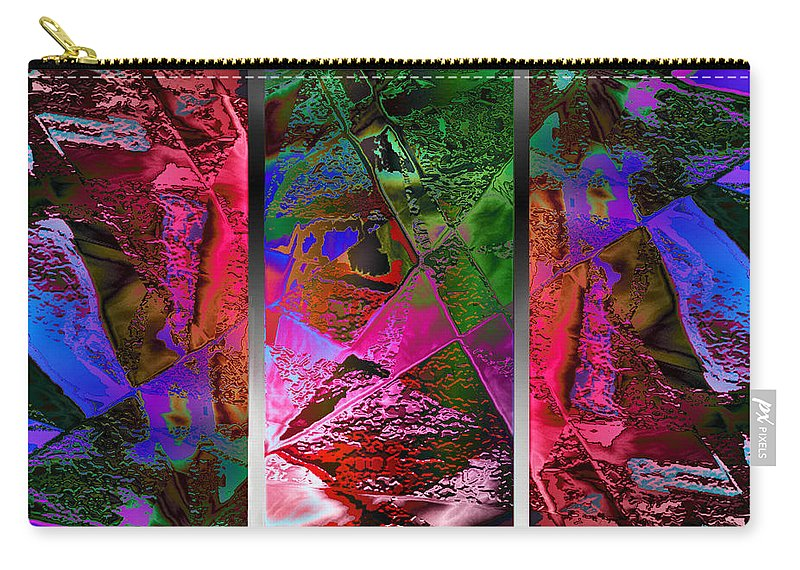Paula Ayers Carry-all Pouch featuring the digital art Triptych Chic by Paula Ayers