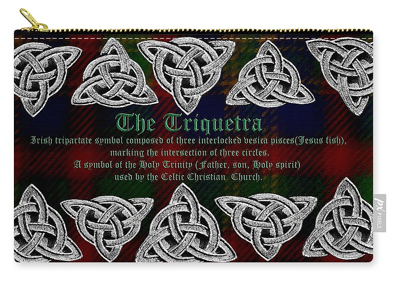 Triquetra Carry-all Pouch featuring the photograph Triquetra by LeeAnn McLaneGoetz McLaneGoetzStudioLLCcom
