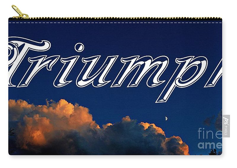 Triumph Carry-all Pouch featuring the photograph Triumph by Barbara Griffin