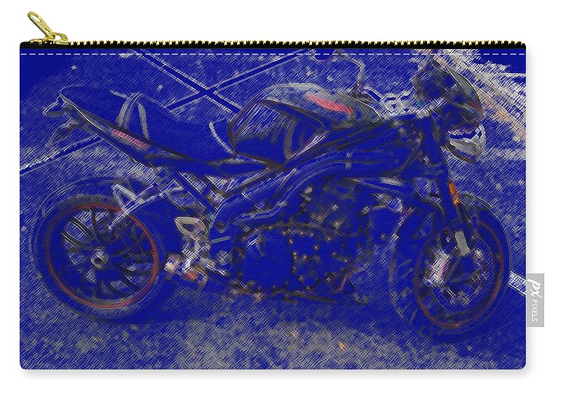 Triumph Carry-all Pouch featuring the painting Triumph In Blue by George Pedro