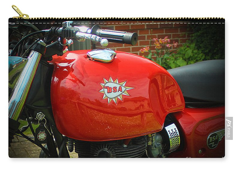 Bsa Motorcycle Carry-all Pouch featuring the photograph Triumph Spitfire by Rene Triay Photography