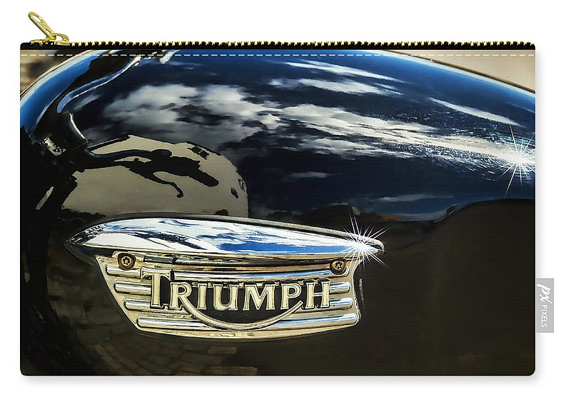 Bike Carry-all Pouch featuring the photograph Triumph by Susie Peek