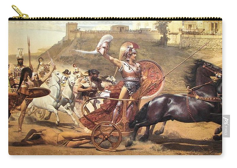 Iliad Carry-all Pouch featuring the painting Triumphant Achilles by Franz von Matsch