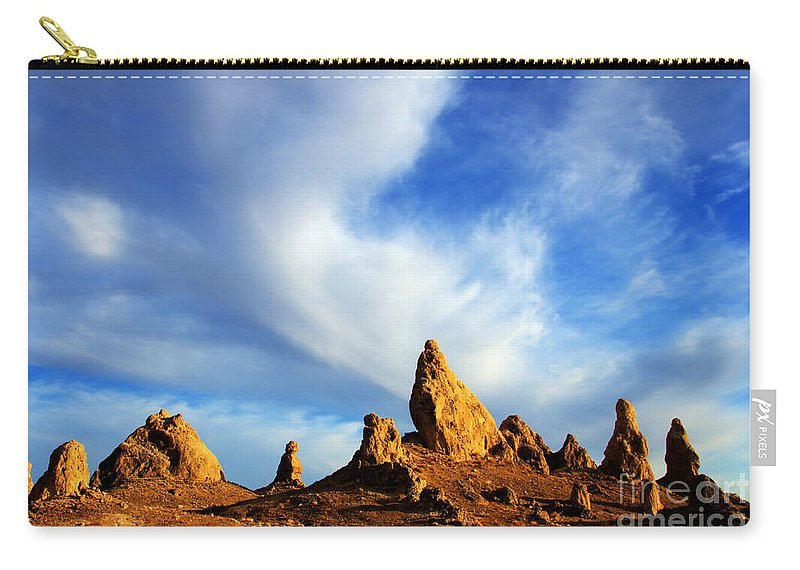Trona Carry-all Pouch featuring the photograph Trona Pinnacles California by Bob Christopher
