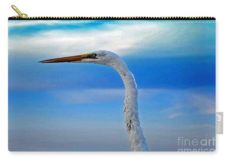 Beach Carry-all Pouch featuring the photograph Tropical Bird Eye by Jost Houk