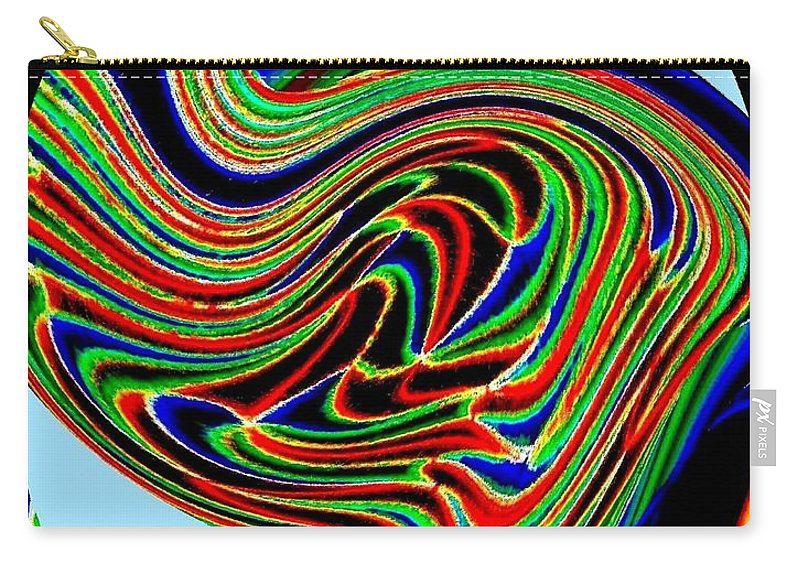 Abstract Carry-all Pouch featuring the digital art Tropical Bird Trio by Will Borden