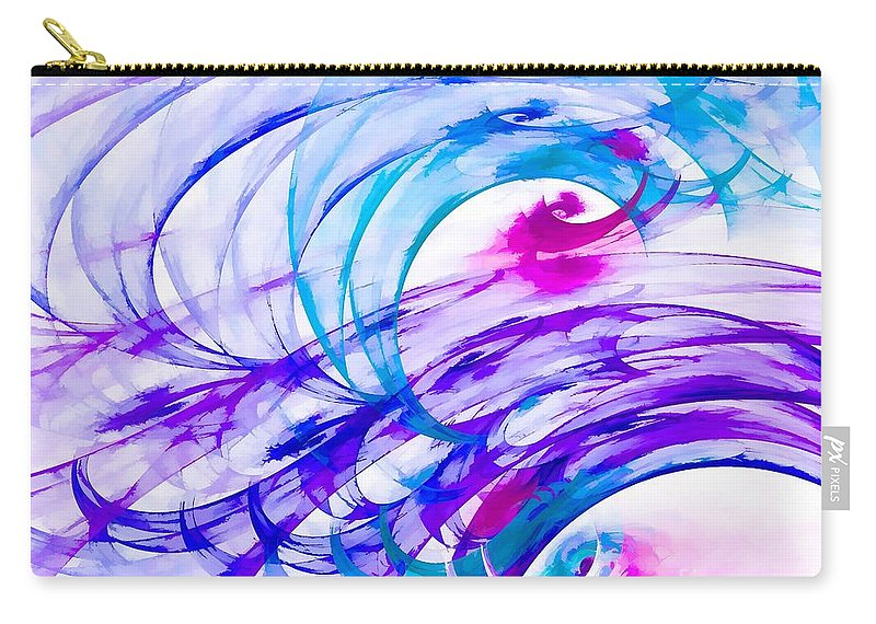 Purple Carry-all Pouch featuring the digital art Tropical Breeze by Peggy Hughes