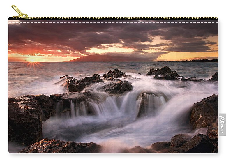 Hawaii Carry-all Pouch featuring the photograph Tropical Cauldron by Mike Dawson