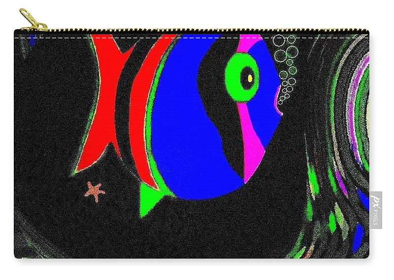 Tropical Cave Fish 1 Carry-all Pouch featuring the digital art Tropical Cave Fish 1 by Will Borden