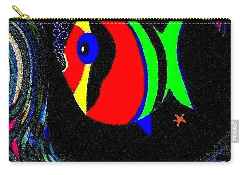 Tropical Cave Fish 2 Carry-all Pouch featuring the digital art Tropical Cave Fish 2 by Will Borden