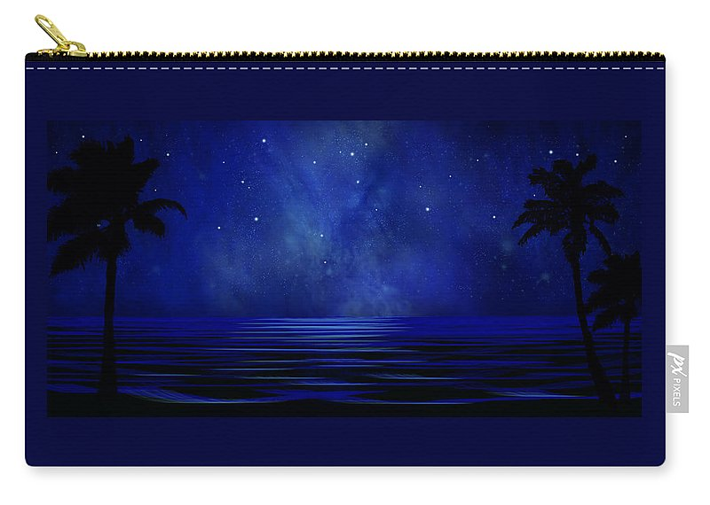 Tropical Dreams Carry-all Pouch featuring the painting Tropical Dreams Wall Mural by Frank Wilson