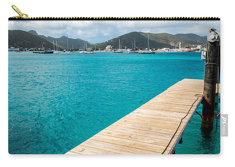 St. Maarten Carry-all Pouch featuring the photograph Tropical Harbor by Kristopher Schoenleber