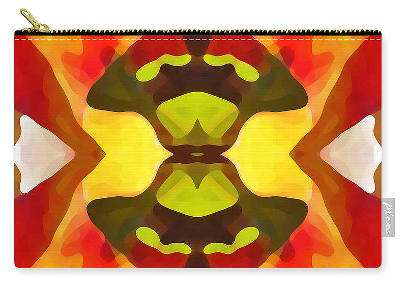 Abstract Carry-all Pouch featuring the painting Tropical Leaf Pattern 1 by Amy Vangsgard