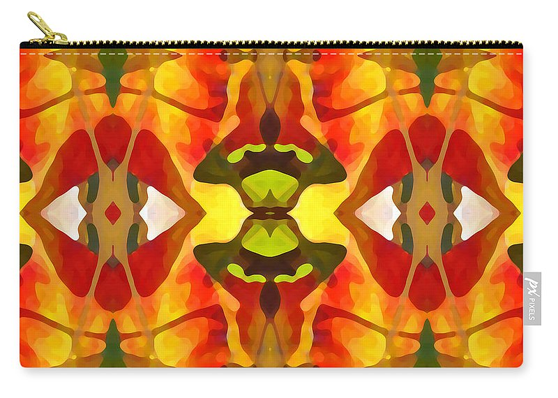 Abstract Carry-all Pouch featuring the painting Tropical Leaf Pattern 4 by Amy Vangsgard