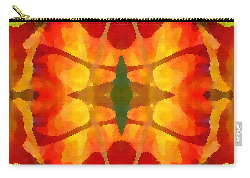 Abstract Carry-all Pouch featuring the painting Tropical Leaf Pattern5 by Amy Vangsgard