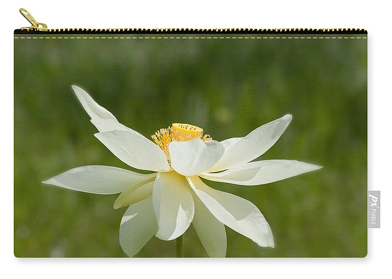 Lotus Carry-all Pouch featuring the photograph Tropical Lotus Flower by Kim Hojnacki