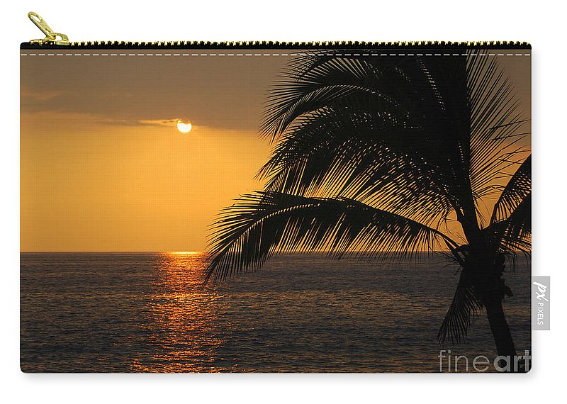 Hawaii Carry-all Pouch featuring the photograph Tropical Ocean Sunset by Catherine Sherman