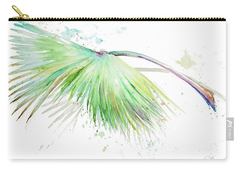 Tropical Carry-all Pouch featuring the painting Tropical Palms by Patricia Pinto