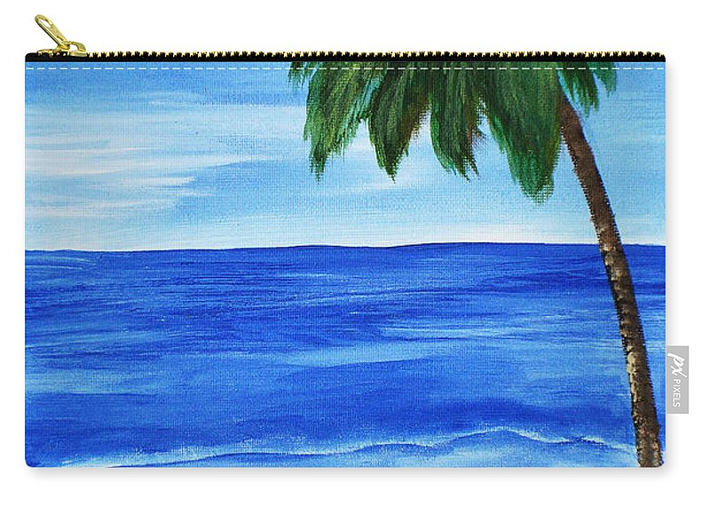 Acrylic Painting Carry-all Pouch featuring the painting Tropical Path by Sherry Allen