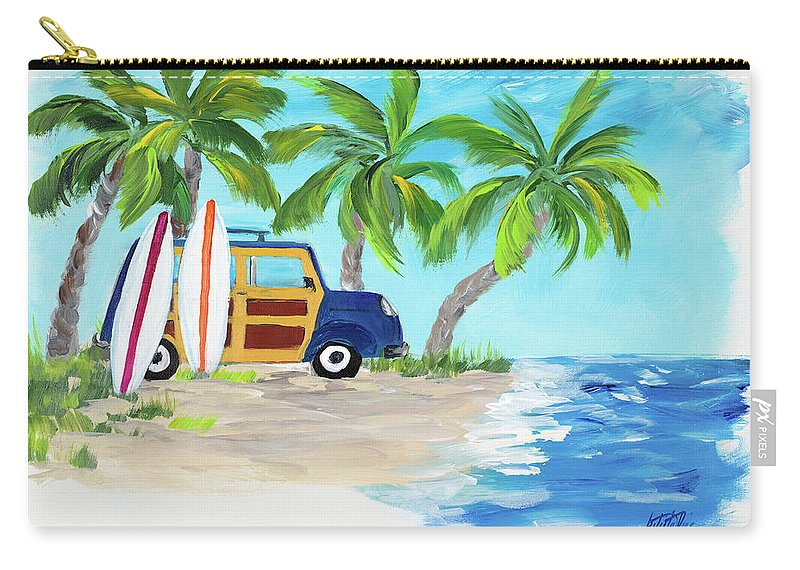 Tropical Carry-all Pouch featuring the digital art Tropical Vacation II by Julie Derice