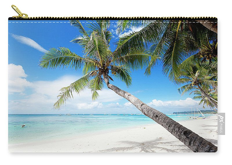 Water's Edge Carry-all Pouch featuring the photograph Tropical White Sand Beach by 35007