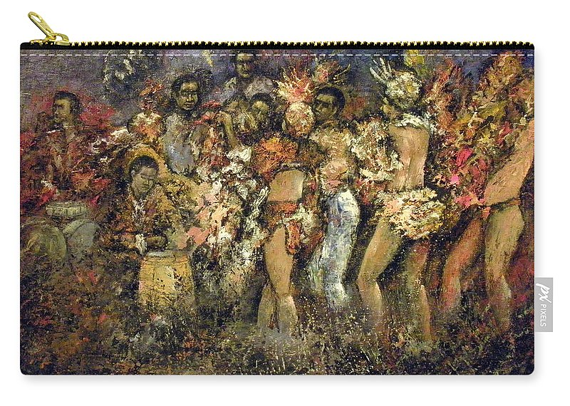 Tropicana Carry-all Pouch featuring the painting Tropicana Havana by Tomas Castano