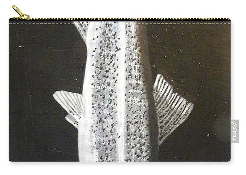 Trout Carry-all Pouch featuring the painting Trout by Richard Le Page