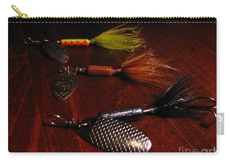 Patzer Carry-all Pouch featuring the photograph Trout Temptation by Greg Patzer