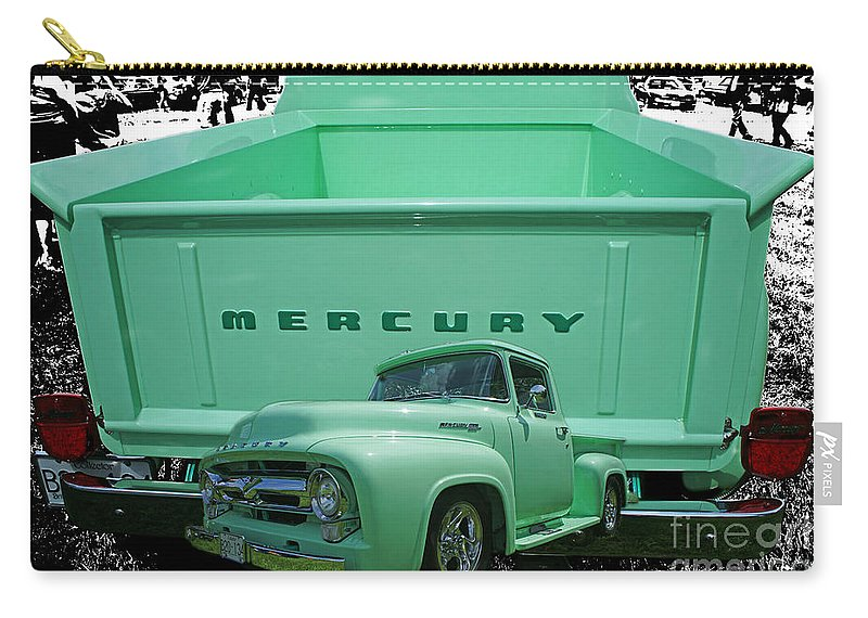 Trucks Carry-all Pouch featuring the photograph Truck In Tailgate by Randy Harris