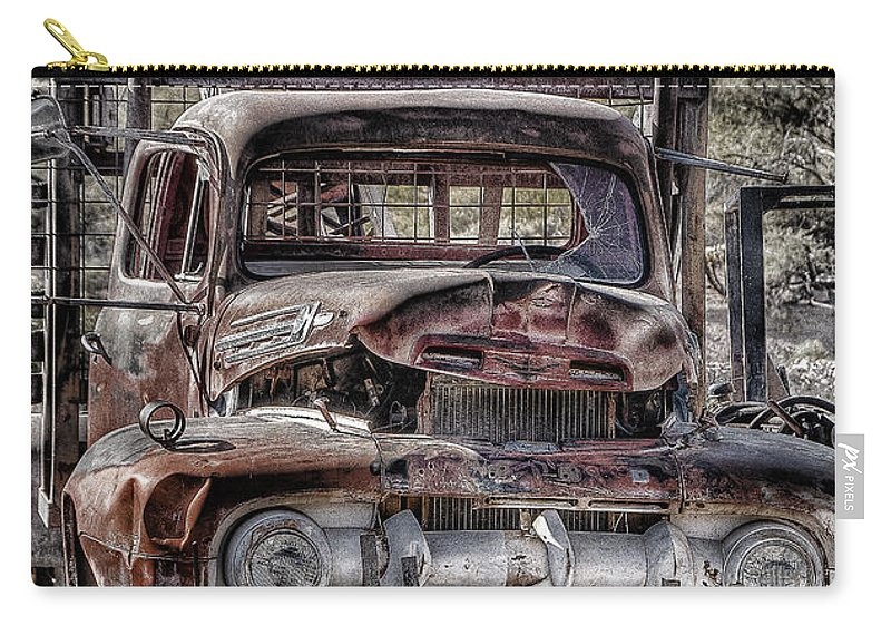 Truck Carry-all Pouch featuring the photograph Truck by Larry White
