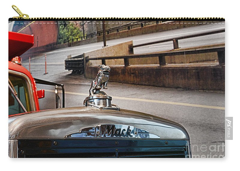 Paul Ward Carry-all Pouch featuring the photograph Truck - The Mack Bulldog by Paul Ward