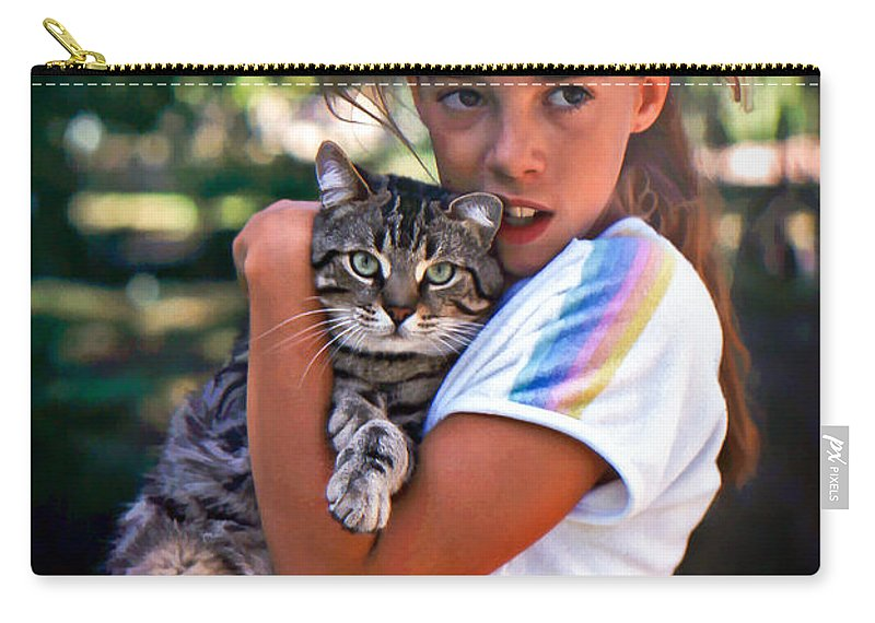 Cat Carry-all Pouch featuring the photograph True Love by Steve Harrington