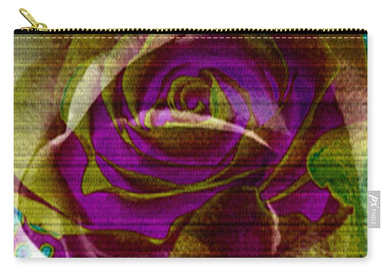 Digital Art Flower Carry-all Pouch featuring the digital art True Love by Yael VanGruber