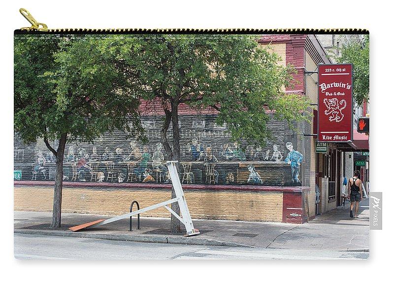Texas Carry-all Pouch featuring the photograph Austin Texas Darwin Bar by JG Thompson
