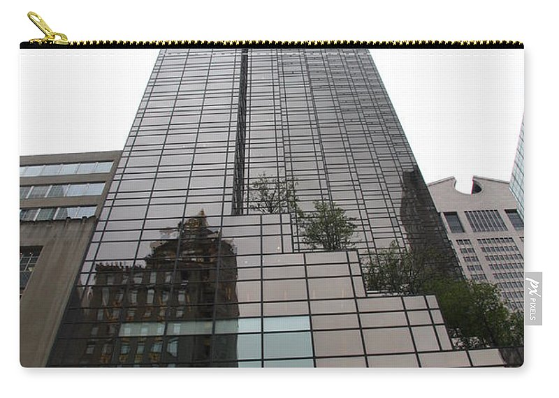 Building Carry-all Pouch featuring the photograph Trump Tower Reflection New York by Christiane Schulze Art And Photography