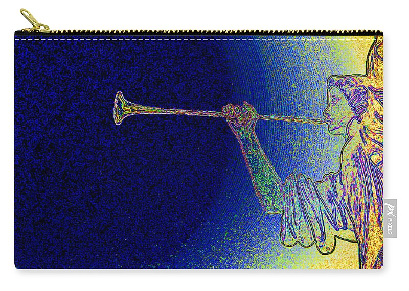 First Star Art Carry-all Pouch featuring the photograph Trumpet Moon by First Star Art